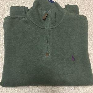 NWT Ralph Lauren Alpine Green 1/2 Zip Pullover